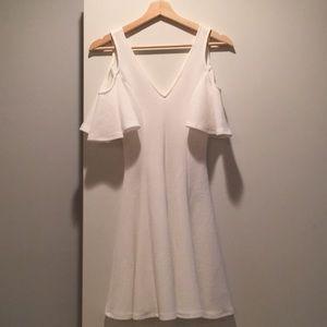 White Cold Shoulder Soprano Dress
